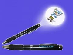 LED金属投影笔 LOGO投影 硅胶投影笔时尚促销礼品圆珠笔