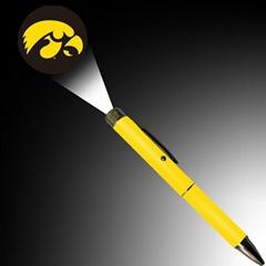 金属LED 投影笔 定制LOGO投影灯笔为促销礼品