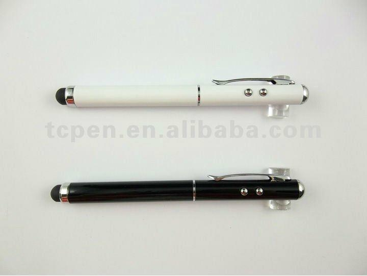 3 in 1 stylus touch pens with LED lighter and Red laser pointer  4