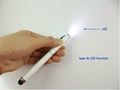 3 in 1 stylus touch pens with LED lighter and Red laser pointer  6
