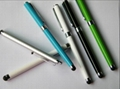 2 in 1 Cheap capacitive Stylus touch pens stylus gel ink pens with stylus tip 2