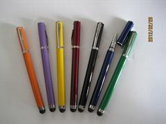 【深圳工厂】定制二合一触摸电容笔 适合任何电容屏设备手写