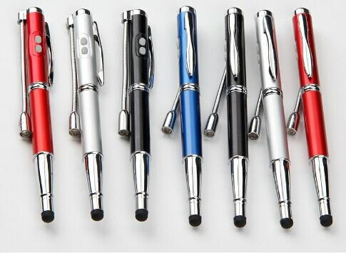 5 In 1 Laser Pointer LED Light Ball Pen Stylus Pen with UV Money Detector 1