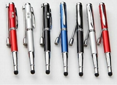 5 In 1 Laser Pointer LED Light Ball Pen Stylus Pen with UV Money Detector