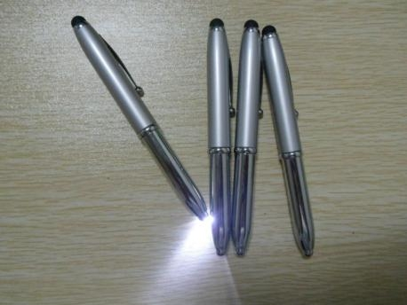 3 In 1 Metal LED Light Ball Pen With Stylus Touch For Smartphone Tablets 4