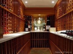 湖南會所紅酒架,酒窖酒架