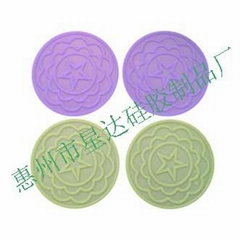silicone household ware coaster tea cup mat