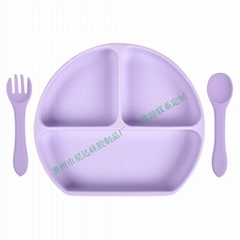 Feeding Set Suction Placemats Silicone Baby Plates For Toddler Children Kids