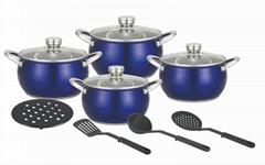 12pcs cookware pot