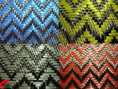 Glitter Carbon Jacquard Fabrics