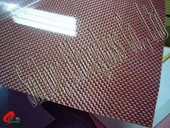 红色电镀纤维板