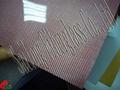 Red fiberglass sheets