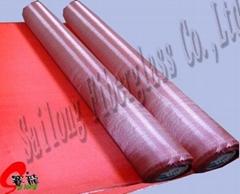 红色电镀布