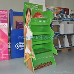Three Shelf Cardboard Retail Display Racks for Diet Tea