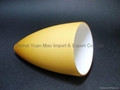 Handblown lighting glass--- cased amber