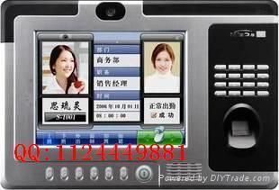 威爾s768指紋刷卡拍照一體機 1