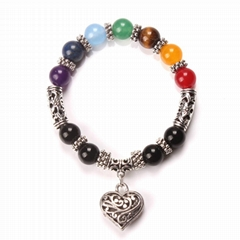 Seven-color nature stone beads Bracelets