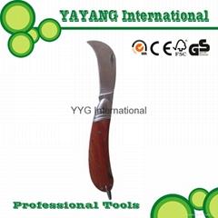 Ash wood handle Professional Grafting Knife