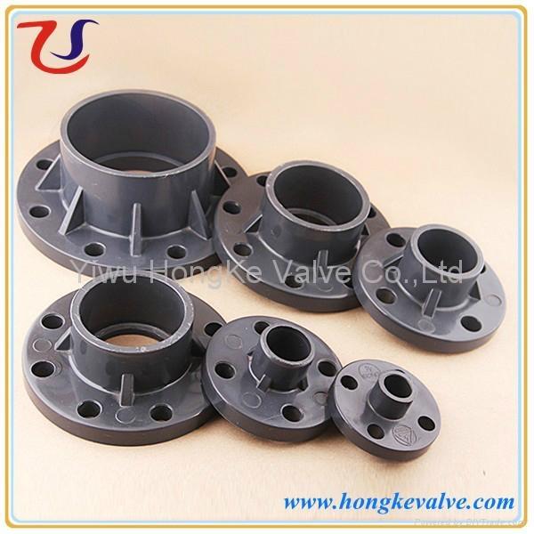 Plastic pvc pipe end flange jz jinze china