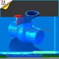 东南亚PVC蓝色球阀 4