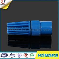 蓝色PVC带弹簧底阀