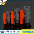 Plastic PVC Ball Valve Removable Handle
