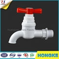 Red Handle Pure Material PVC Full Turn Tap