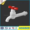 Red Handle Pure Material PVC Full Turn Tap