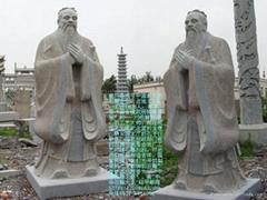 手工雕刻孔子故里供孔子標準像雕塑
