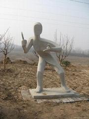 手工雕刻體育雕塑