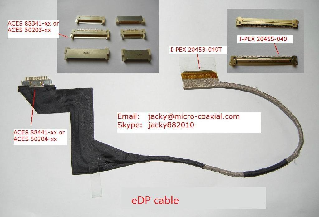 LVDS屏線 eDP屏線 I-PEX屏線 intel高清屏線 IPEX極細同軸線 ACES 88441-040 5