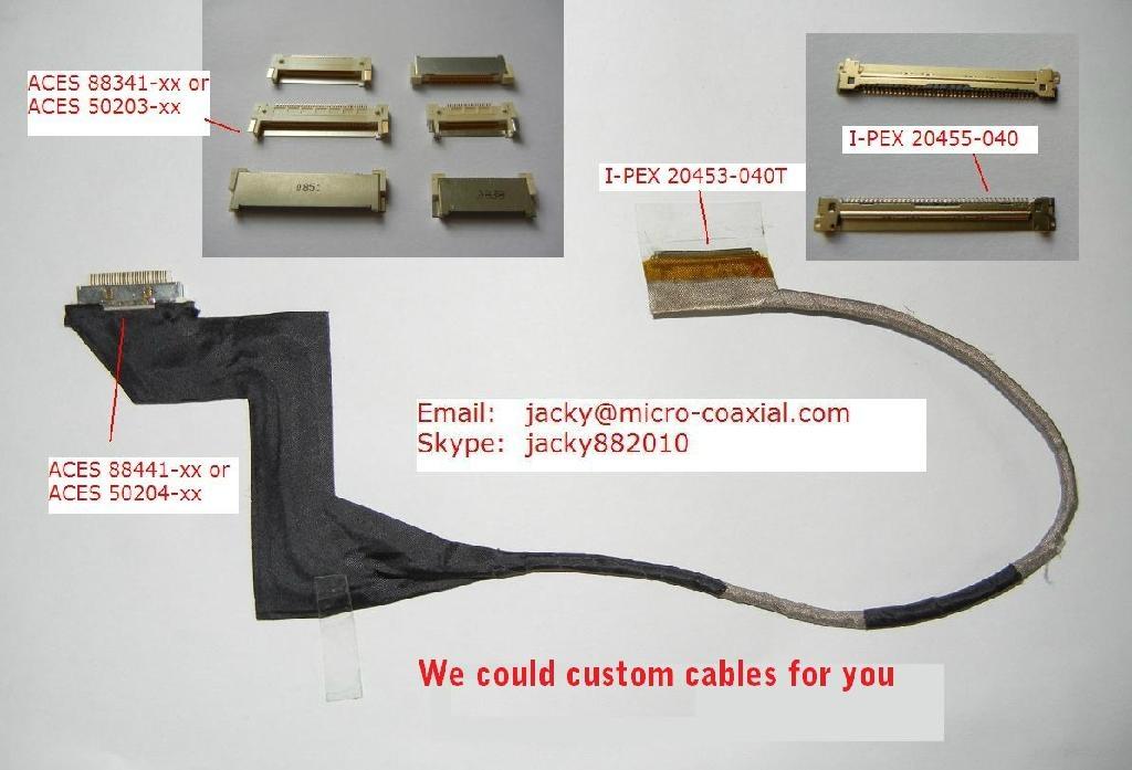 DH61AG液晶屏线 aces88441-040主板屏线