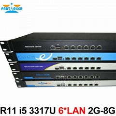 Full Gigabit Multi Wan Core Routers with 6 82583v lan Intel D525 1.8G ROS Mikro