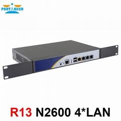 R13 4*RJ45 1000M LAN Rack Firewall Router network server with intel N2600