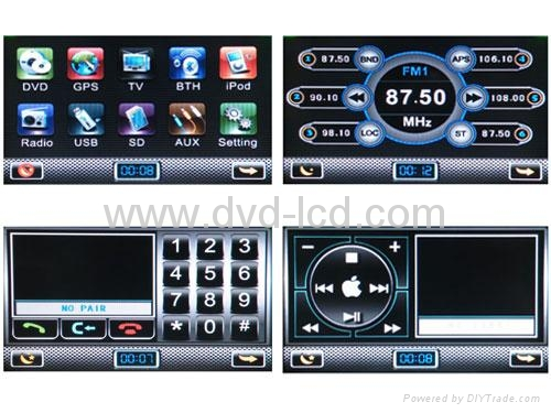 Mazda 5 car special dvd player with HD LCD bluetooth Ipod navigation 3