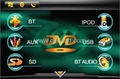 Mazda 5 car special dvd player with HD LCD bluetooth Ipod navigation 2