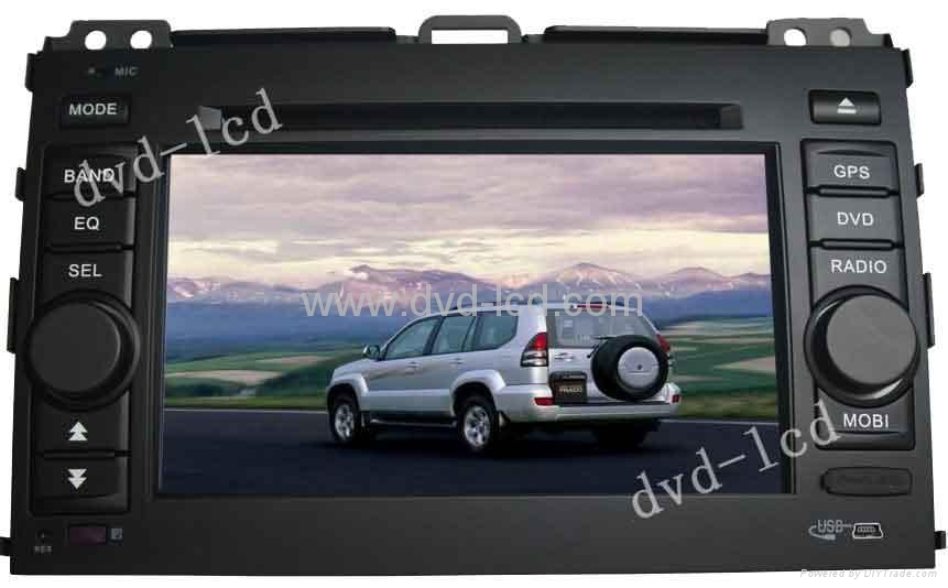 car special dvd player for Toyota Prado with HD LCD IPod Navigation 1