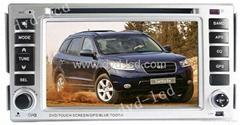 car dvd player Hyundai Santa Fe with high definition lcd monitor navigation GPS