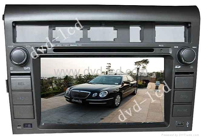 car special dvd player  KIA Opirus with high definition lcd monitor Navigation  1
