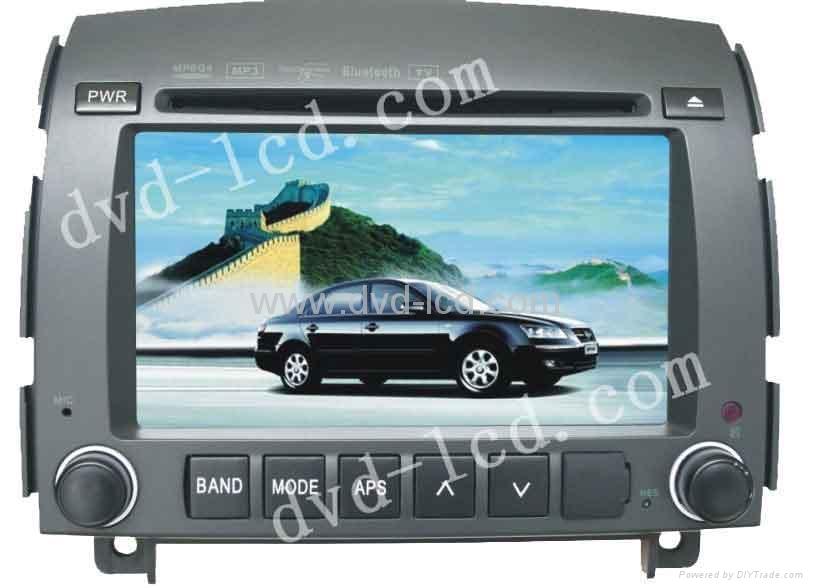 Hyundai Yuxiang Sonata car dvd player with HD lcd monitor navigation GPS 1
