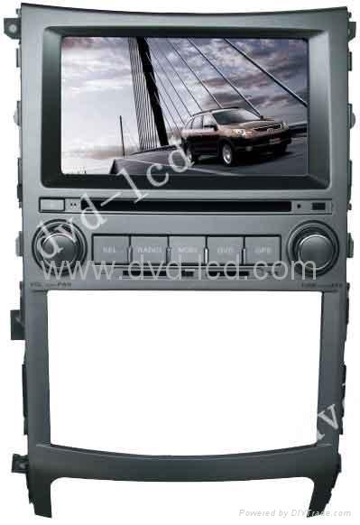 Hyundai Veracruz car dvd player with high definition lcd monitor navigation GPS 1