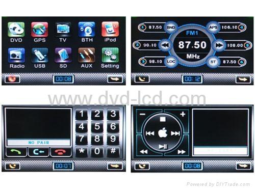 Hyundai Veracruz car dvd player with high definition lcd monitor navigation GPS 3