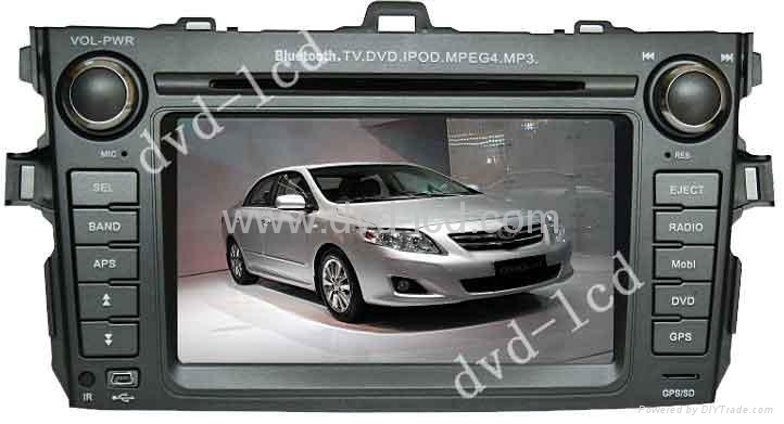 car special dvd player Toyota Corolla with HD LCD Ipod Bluetooth Navigation 1