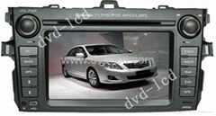 car special dvd player Toyota Corolla with HD LCD Ipod Bluetooth Navigation