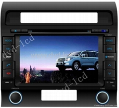 car dvd player Toyota Land cruiser with high definition lcd monitor Navigation