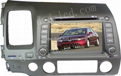 Honda Civic car dvd player with high definition lcd Navigation