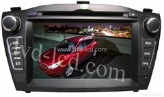 car special dvd player Hyundai IX35 with high definition lcd GPS