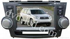 Toyota Highlander car special dvd player GPS navigation system