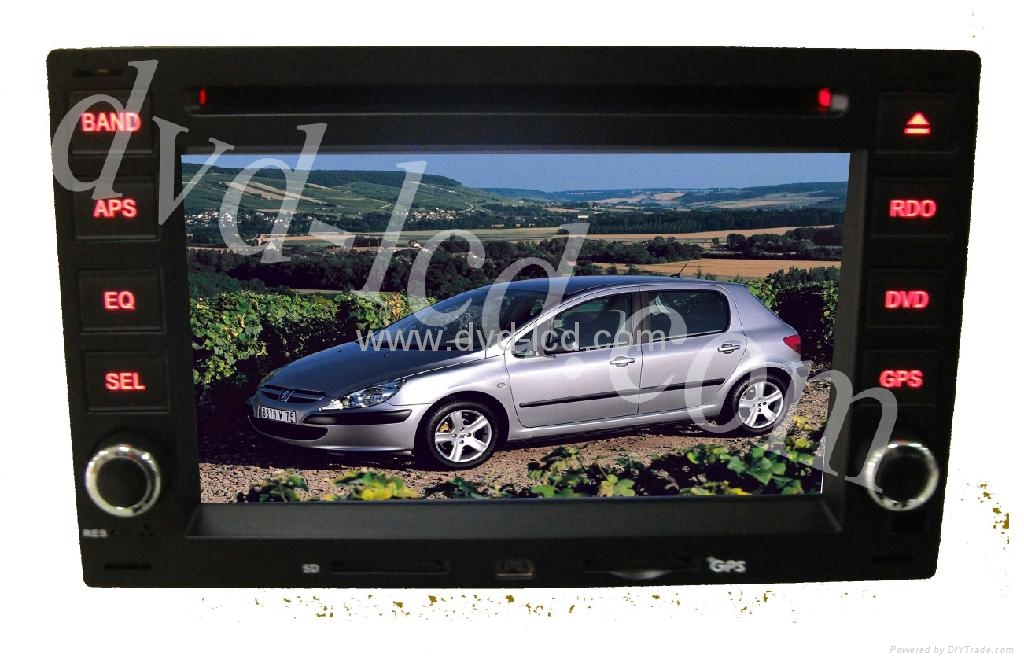 Peugeot 307 car dvd player with high definition lcd GPS navigation system 1