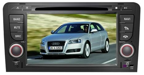 Audi A3 car dvd player  radio with high definition lcd GPS navigation system 1